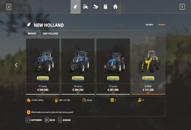 NEW HOLLAND TRACTORS V1.0.0.2