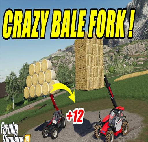 AUTOLOAD ROUND AND SQUARE BALE FORK V 2 1 » GamesMods net - FS19