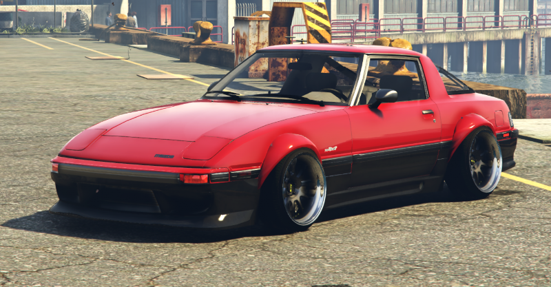 1984 Mazda RX-7 Stanced Version |Five-M|Replace|Add-On| 1 1