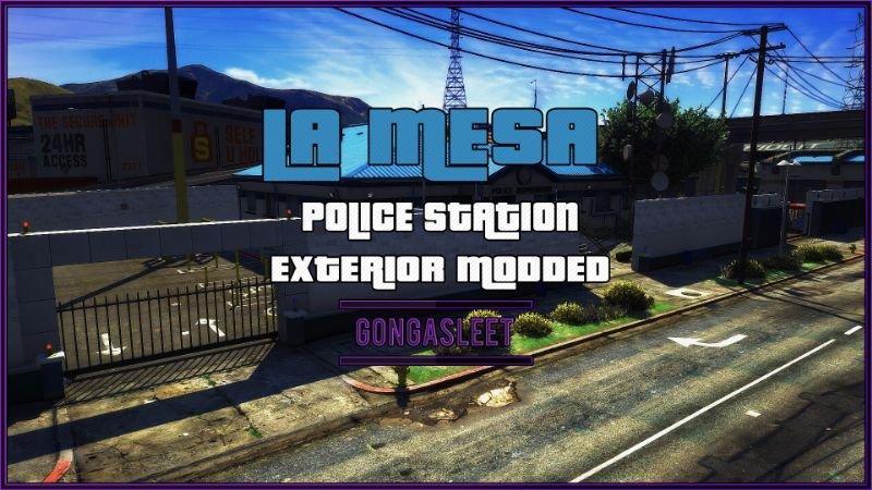 Police Station - La Mesa Exterior Modded FiveM | SP Menyoo YMAP