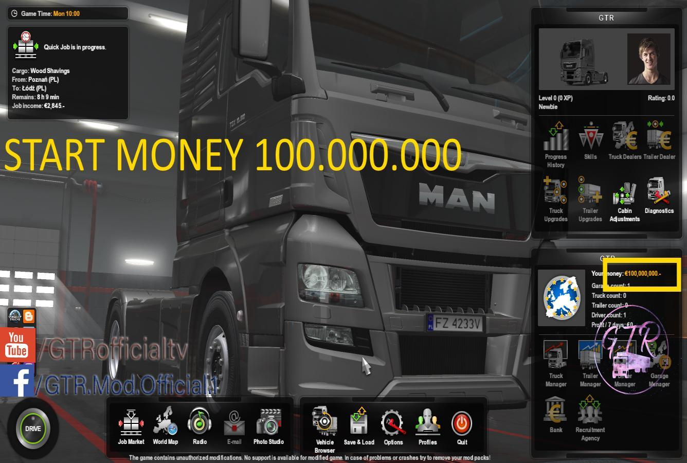 START MONEY 100 000 000$ 1 34 » GamesMods net - FS19, FS17, ETS 2 mods