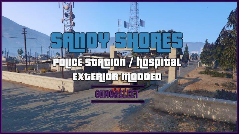 Police Station & Hospital - Sandy Shores FiveM | SP Menyoo YMAP