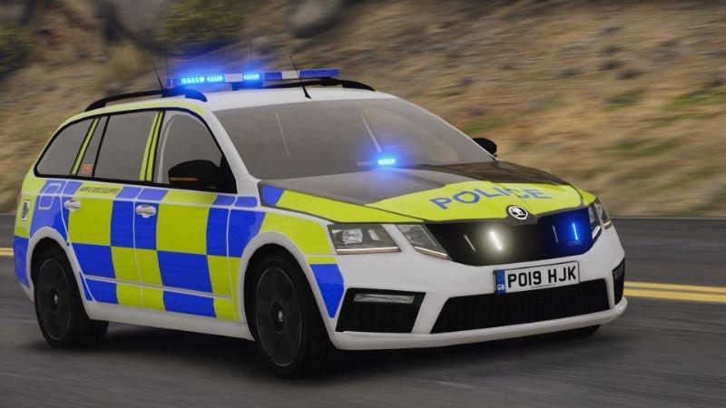 2019 Police Skoda Octavia RS Combi (ELS Pack) Replace | ELS V1