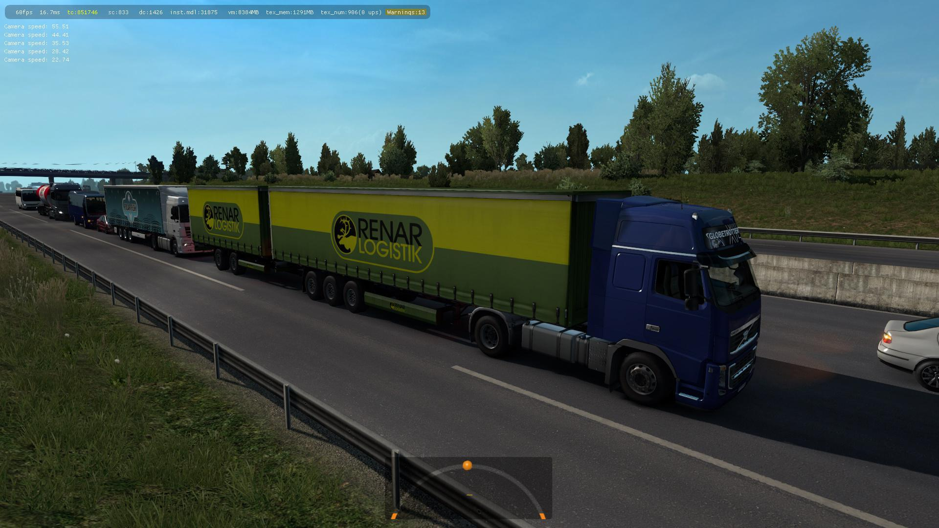 DOUBLE TRAILERS IN TRAFFIC 1 34 X » GamesMods net - FS19