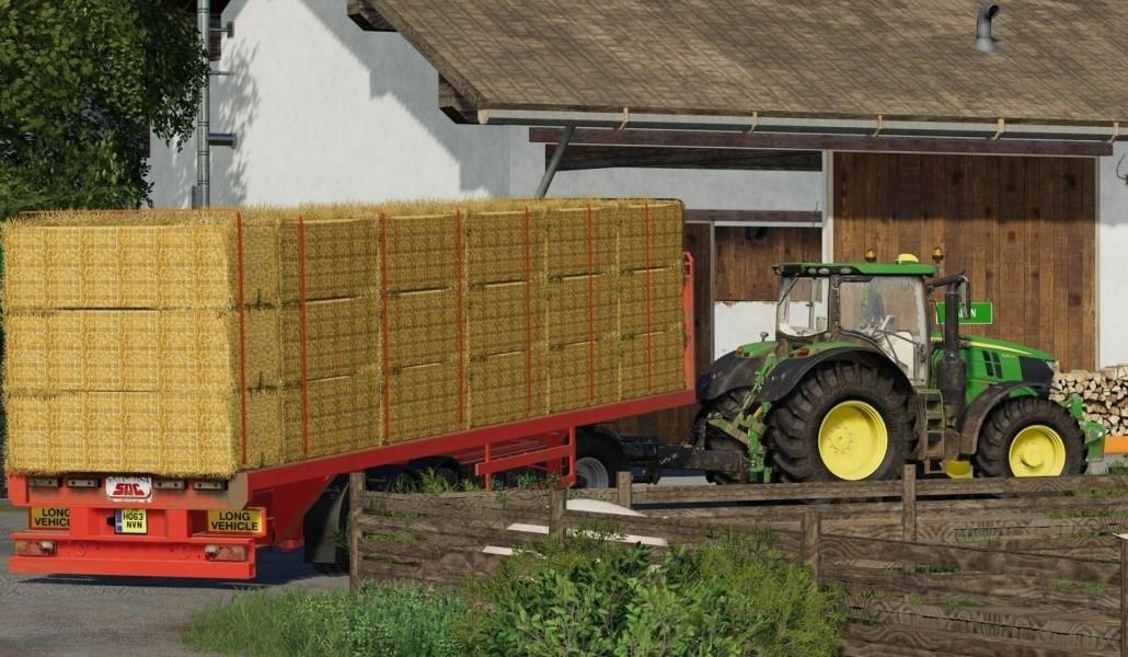 Flatbed Trailer with Autoload V2 » GamesMods net - FS19