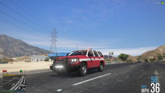 15 Chevy Tahoe | Fire Territory / LifeLine Livery Pack