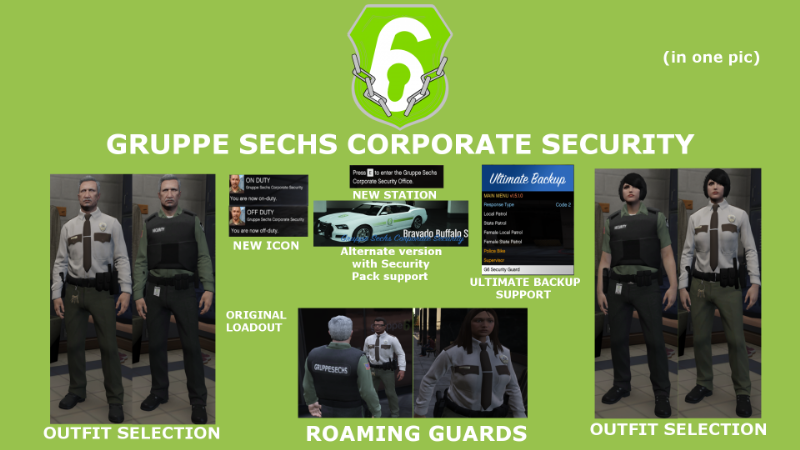 Gruppe Sechs Corporate Security AGENCY LSPDFR 4 1