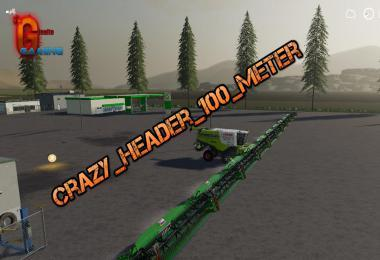 FS19 CRAZY HEADER 100 METER V1.0