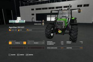 Deutz Fahr Agrostar DX 61 UPDATE v1.0
