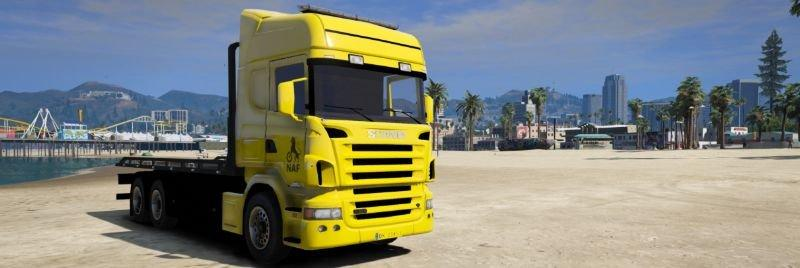 NAF Scania R580 | Flatbed | Recovery Truck 1 2 » GamesMods net