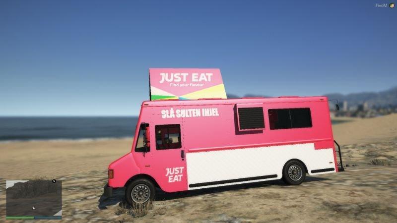 Just Eat Van ( Danish / Dansk ) Replace (Ready for singleplayer