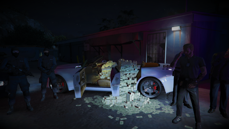 Just A Scene With A Car Full Of Money  Menyoo 1 0
