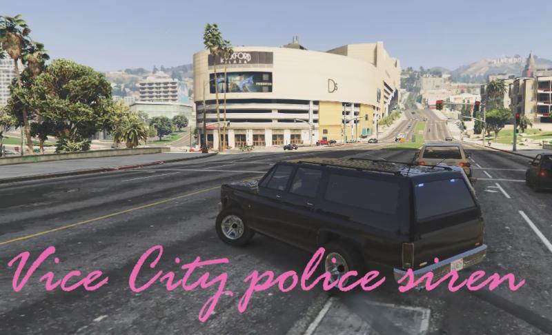 GTA Vice City Police Sirens Sound Mod 1 0 » GamesMods net