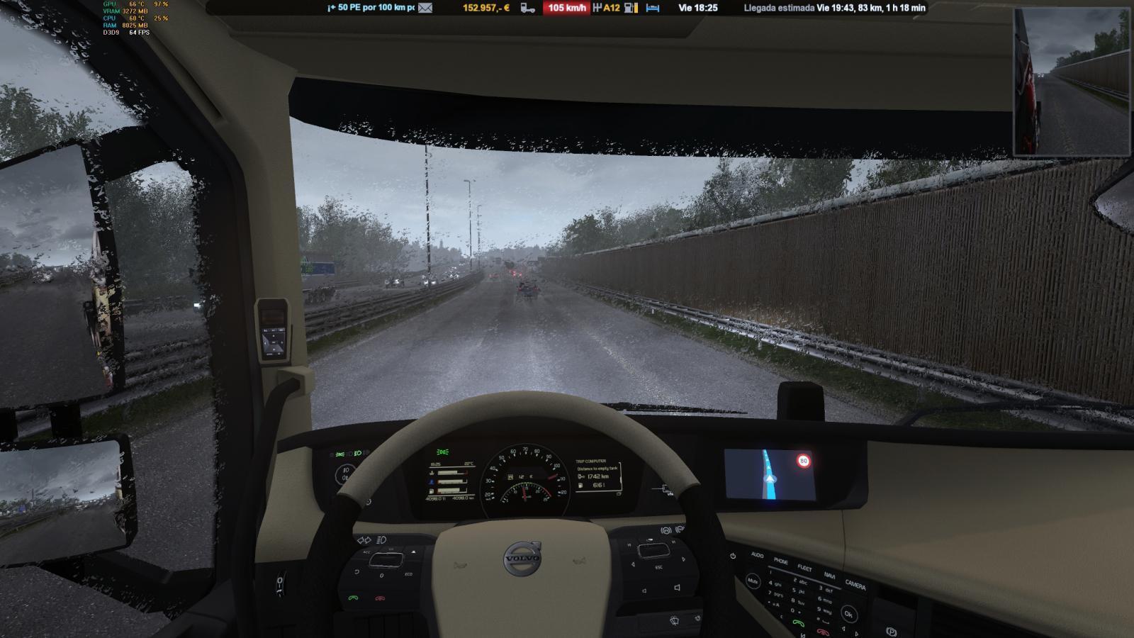 ATS HEAVY RAIN V2 1 » GamesMods net - FS19, FS17, ETS 2 mods