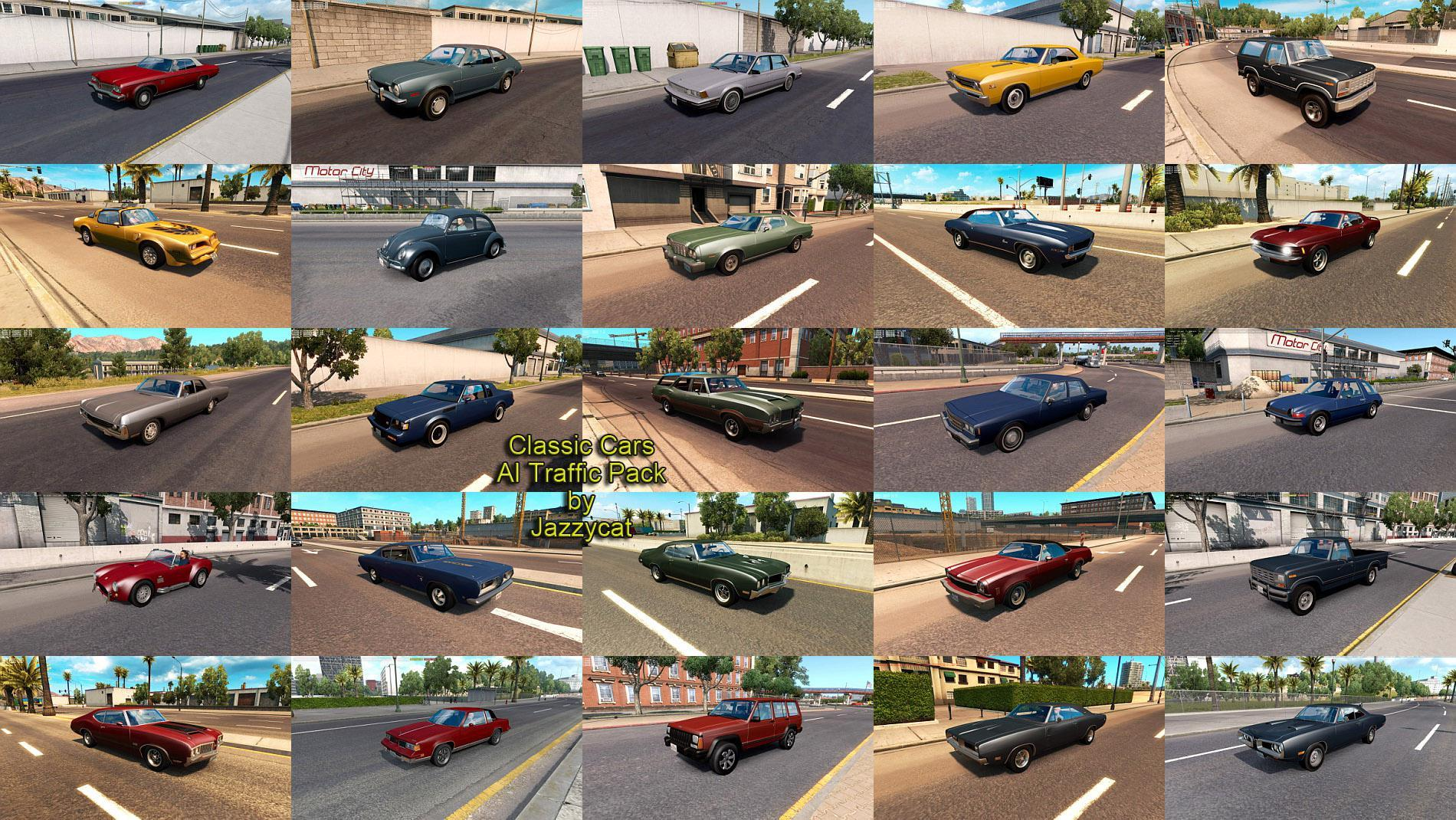CLASSIC CARS AI TRAFFIC PACK BY JAZZYCAT V3.5 » GamesMods