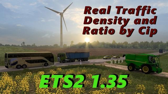 REAL TRAFFIC DENSITY AND RATIO ETS2 1 35 B » GamesMods net