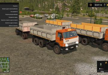 KAMAZ 55102S and trailer