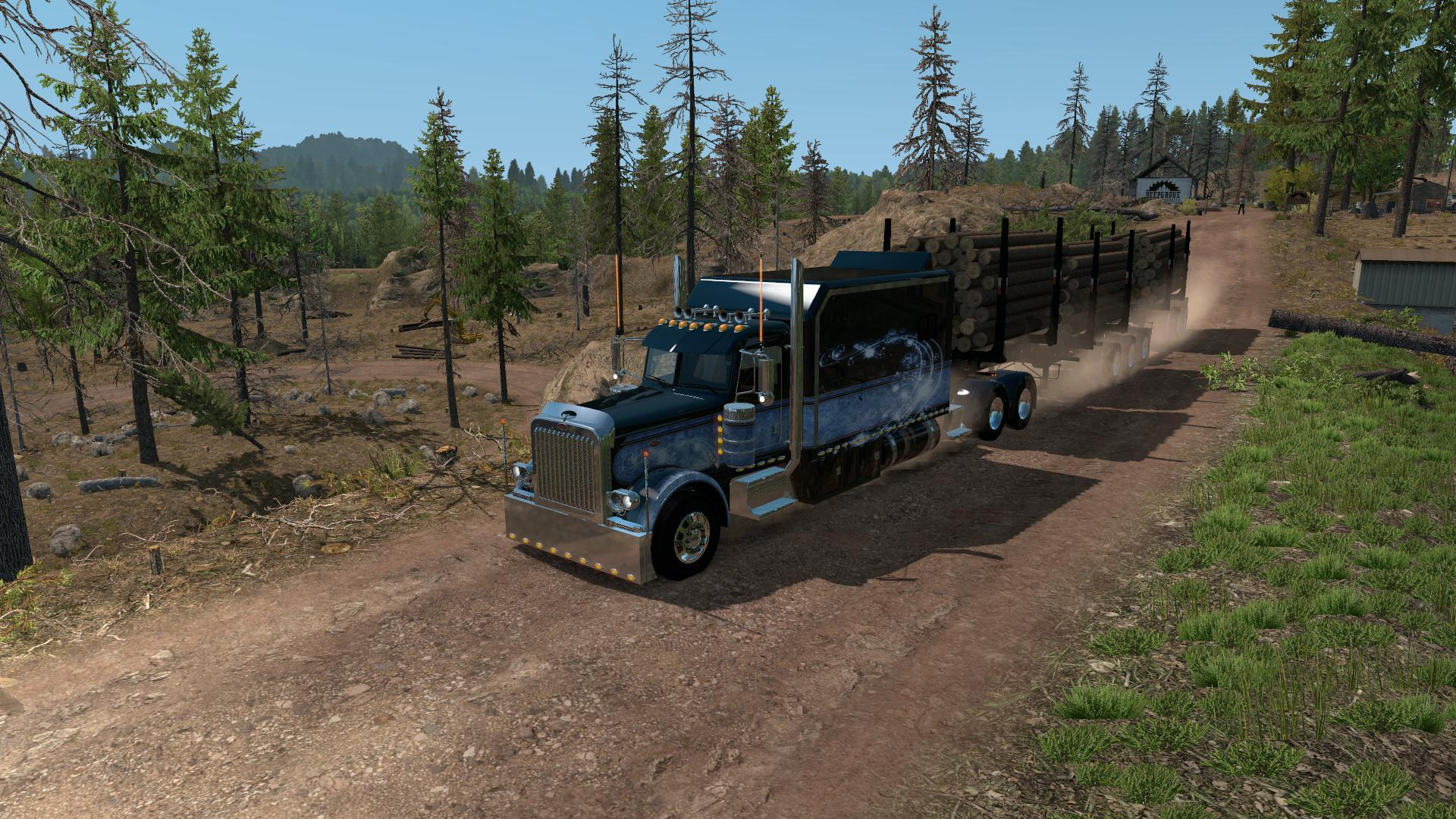 ARTIC LOGGING TRAILER FOR ATS 1 35 » GamesMods net - FS19