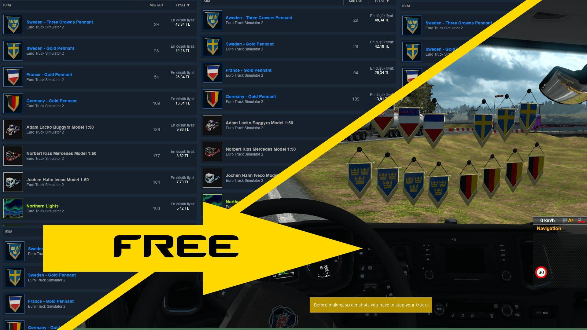 USE ETS2 ITEMS FREE 1 35 X » GamesMods net - FS19, FS17, ETS