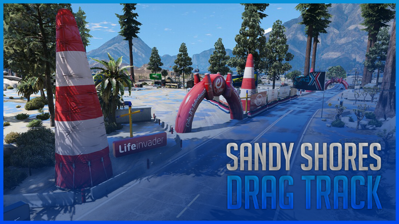 Sandy Shores Event | Drag Track on Airport FiveM | YMAP 1 0