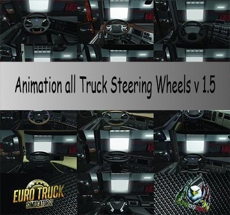 ANIMATION ALL TRUCK STEERING WHEELS V1.5