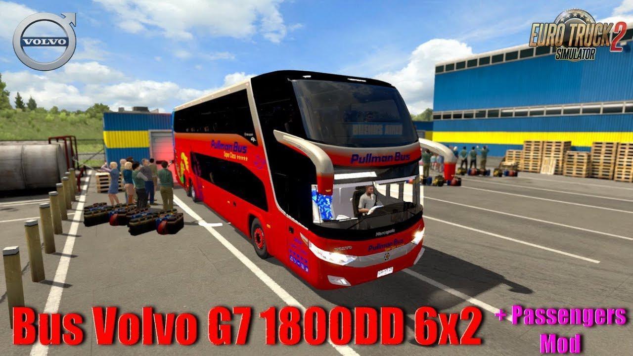 BUS VOLVO G7 1800DD 6X2 + PASSENGERS MOD V1 0 » GamesMods