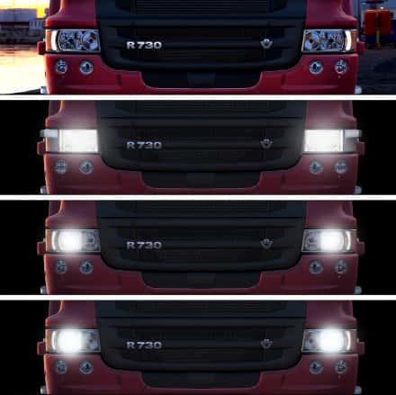 REALISTIC HEADLIGHT COLORS FOR ALL TRUCKS 1.35