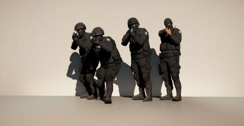 EUP N O O S E TRU (Tactical Response Unit) Outfits for MP Male