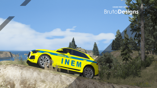 Portuguese INEM AUDI Q8 2019 Livery + Car Version 3 1