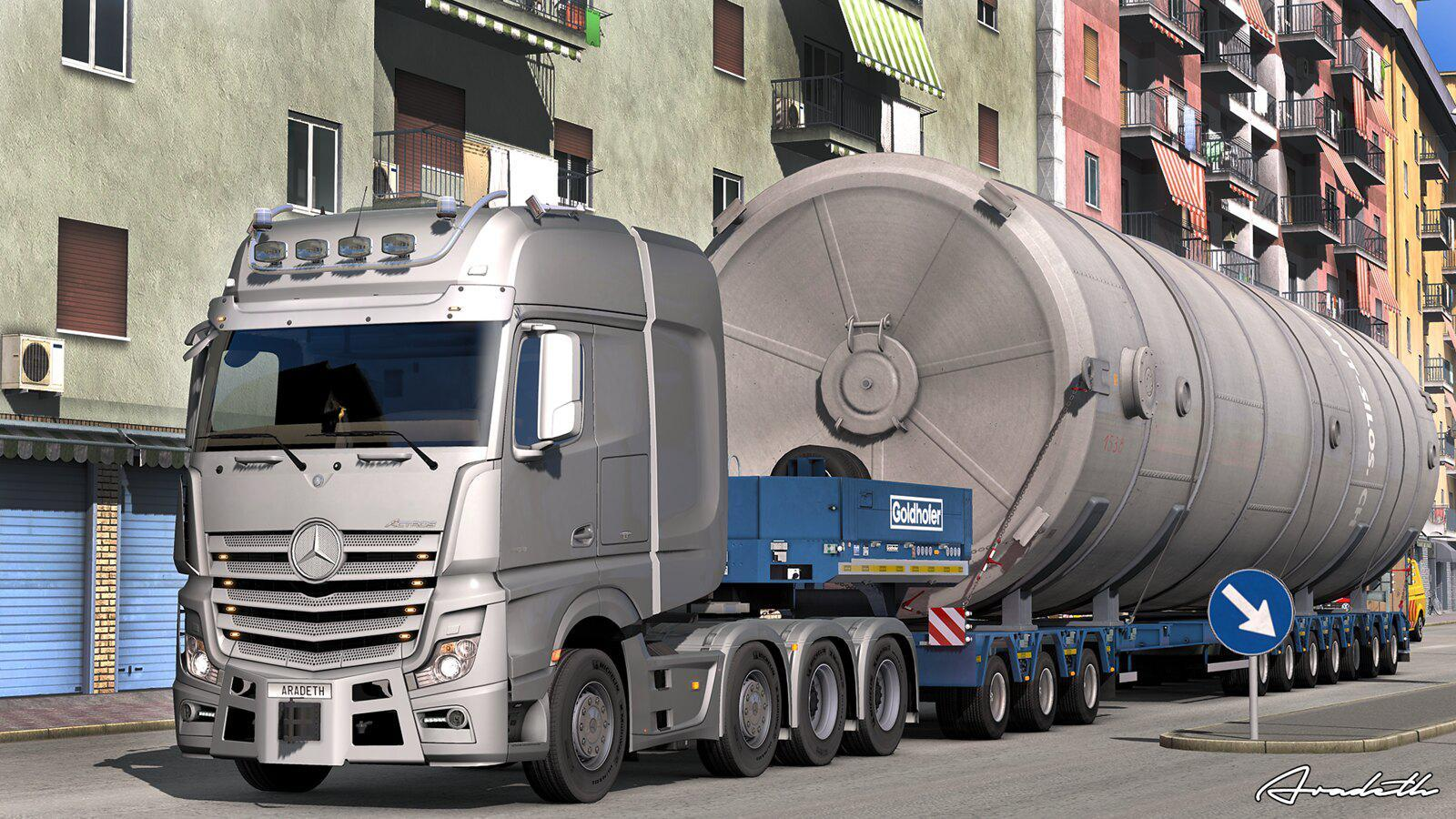MERCEDES ACTROS OPEN PIPE NEXT STAGE 1 35 X » GamesMods net