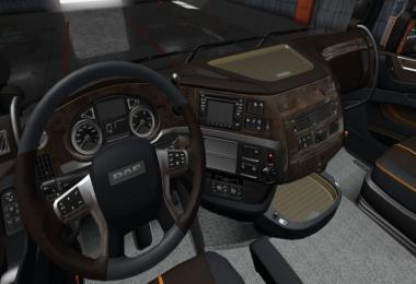 DAF E6 BROWN WOOD LUX INTERIOR 1.36.X