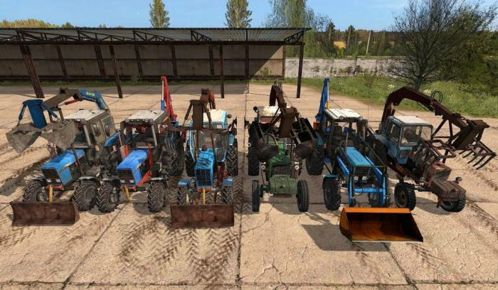 MTZ and YuMZ pack of grabs and excavators V1.0