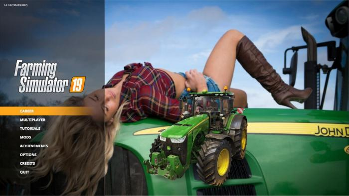 JOHN DEERE SUPER GIRL EDITION MENU BACKGROUND V1.0