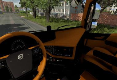 BLACK AND ORANGE INTERIOR FOR VOLVO V1.0