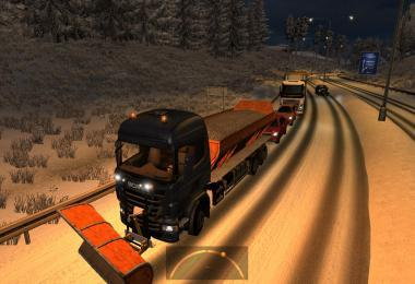 SCANIA BASED SNOWBLOWERS IN TRAFFIC FOR ETS2 1.38.X