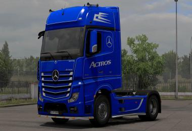 MERCEDES ACTROS MP4 BLUE-WHITE HOLLAND SKIN 1.39