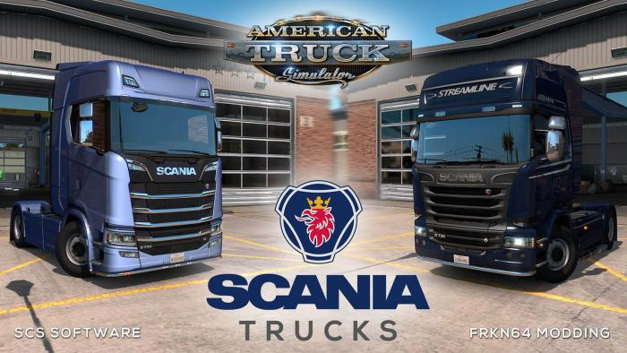 SCANIA Trucks Mod v4.2 for ATS (by Frkn64)