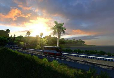 MAP OF WEST JAVA INDONESIA ETS2 1.39