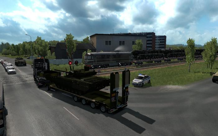 MILITARY OVERSIZED CARGO FOR DLC BEYOND THE BALTIC SEA V9.0